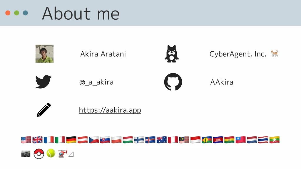 About me @_a_akira AAkira CyberAgent, Inc.  Aki...