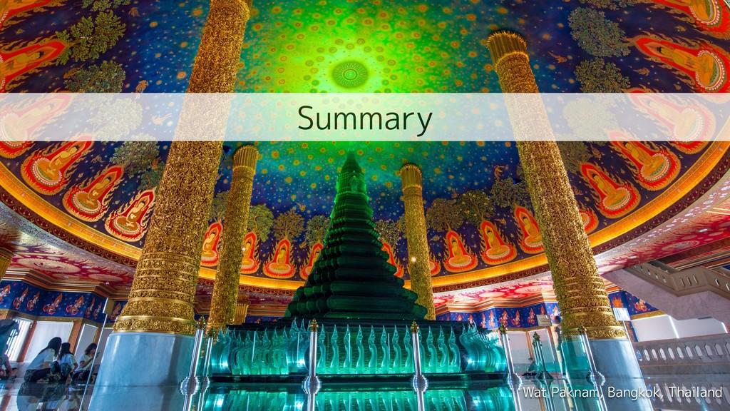 Wat Paknam, Bangkok, Thailand Summary