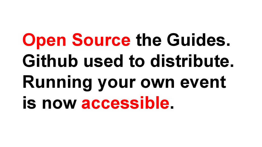 Open Source the Guides. Github used to distribu...
