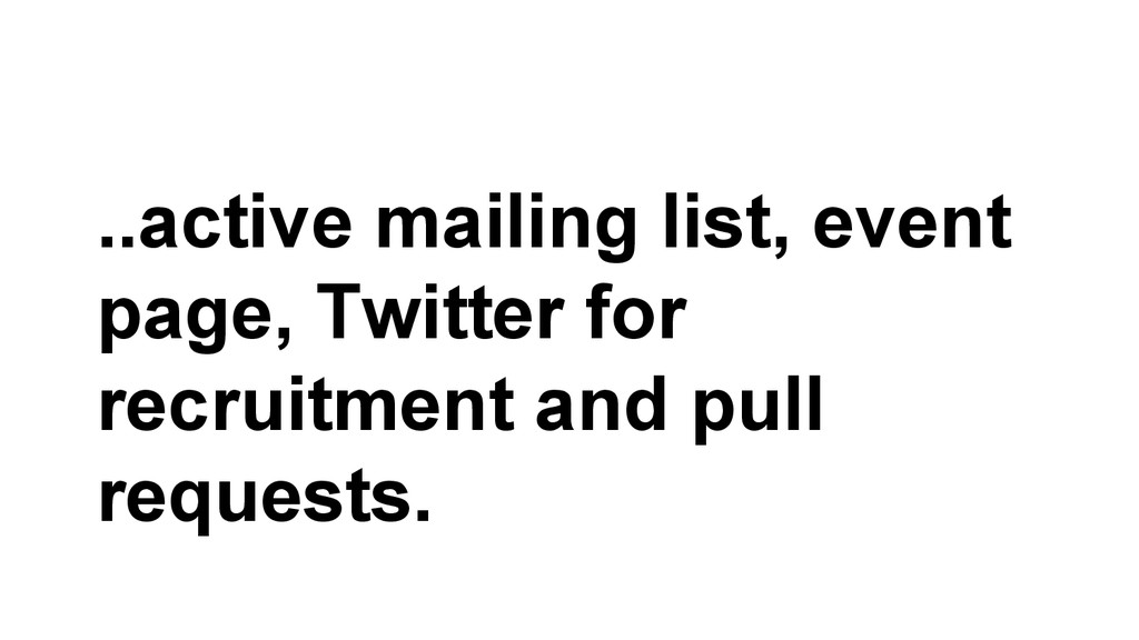 ..active mailing list, event page, Twitter for ...