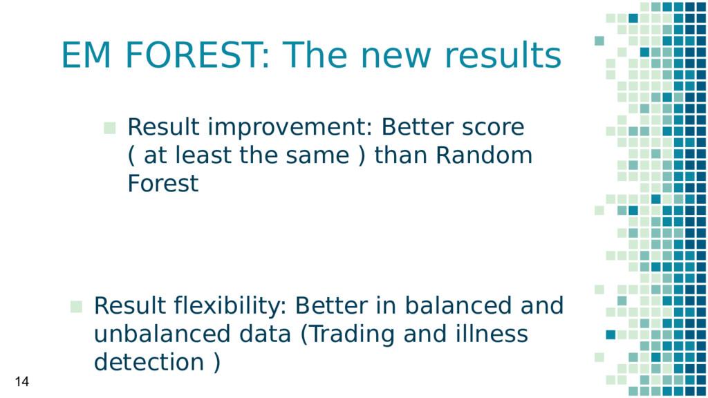 EM FOREST: The new results 14 ▪ Result improvem...