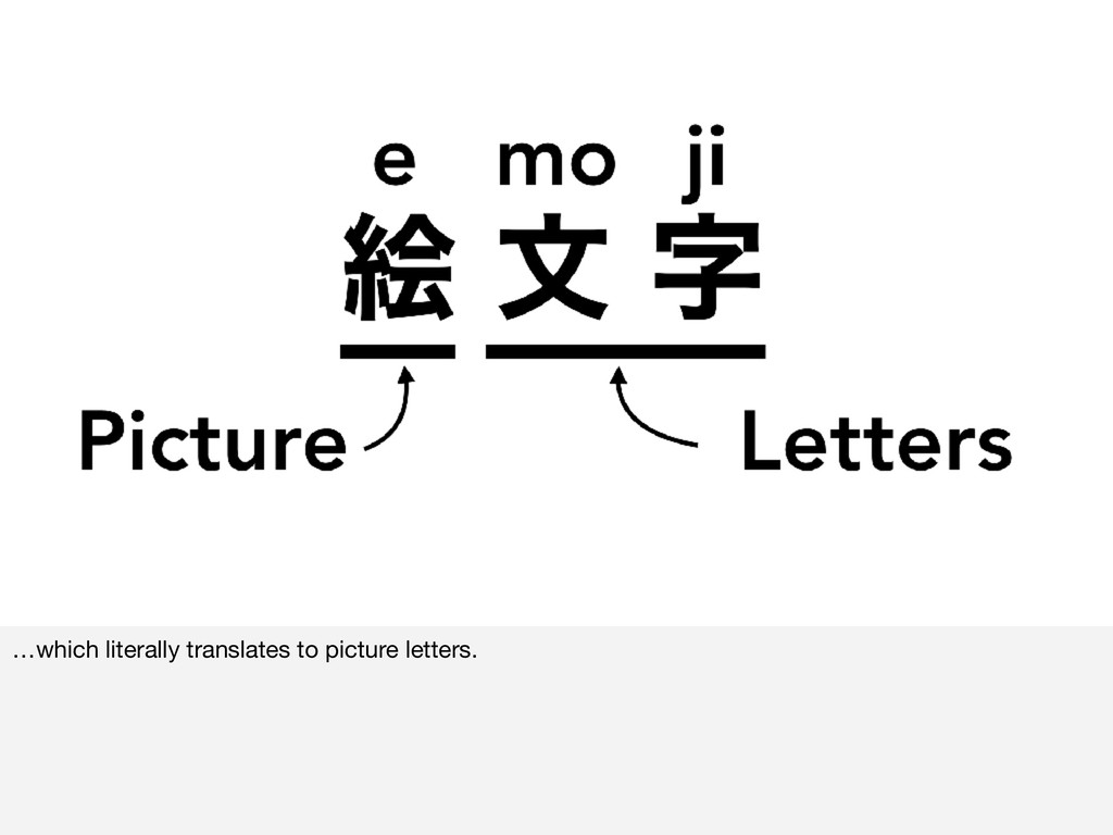 …which literally translates to picture letters.