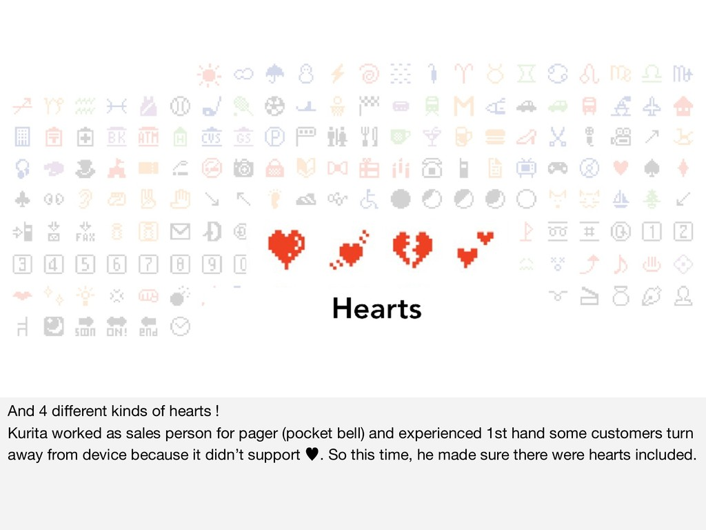 And 4 different kinds of hearts !  Kurita worked...