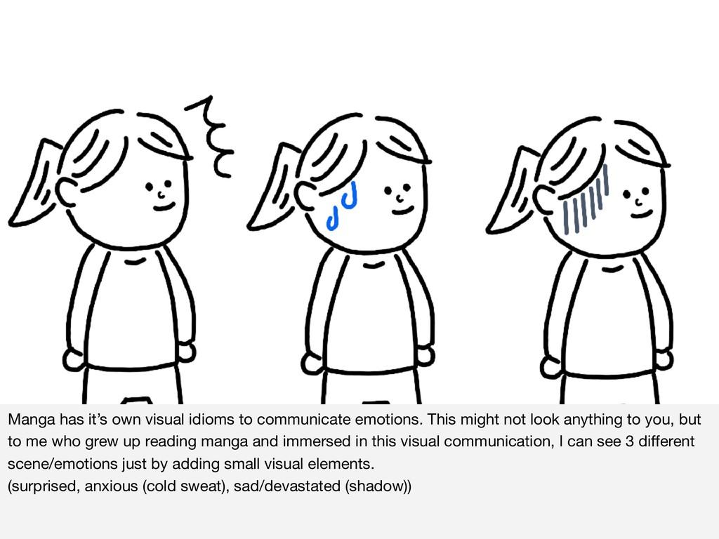 Manga has it's own visual idioms to communicate...