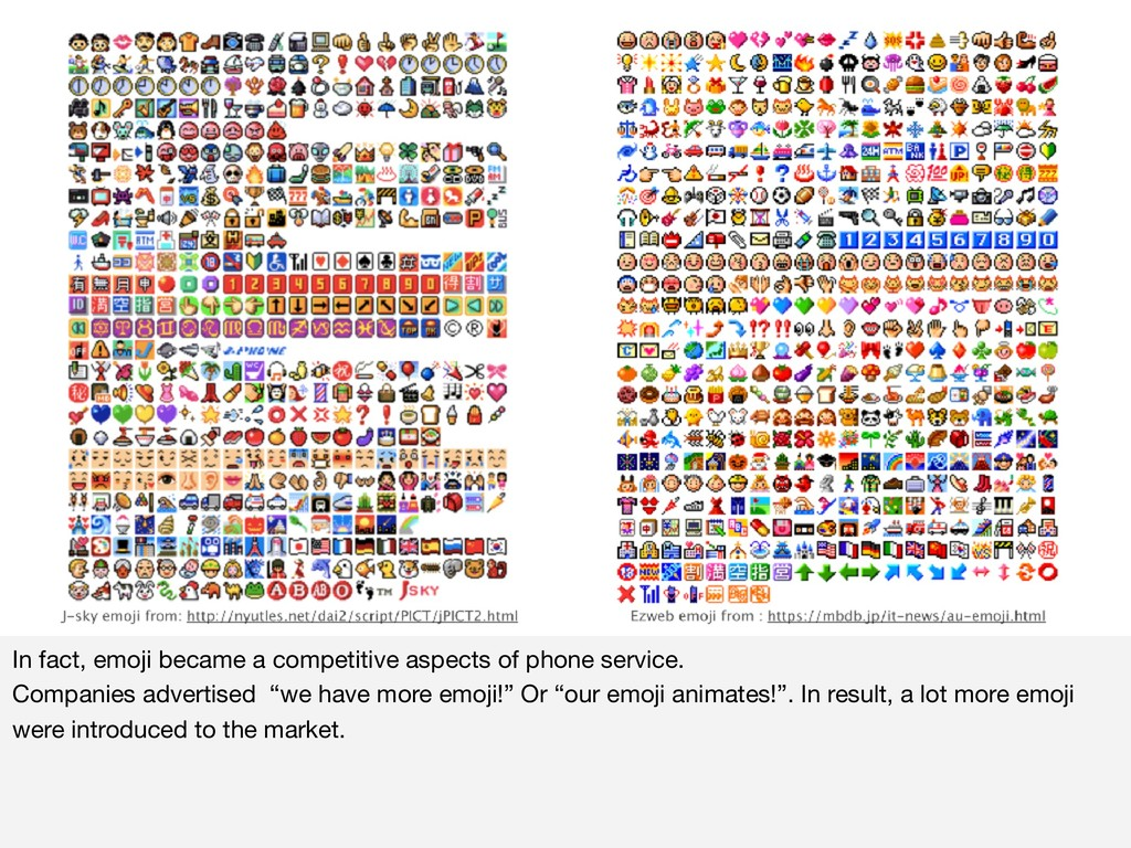 In fact, emoji became a competitive aspects of ...