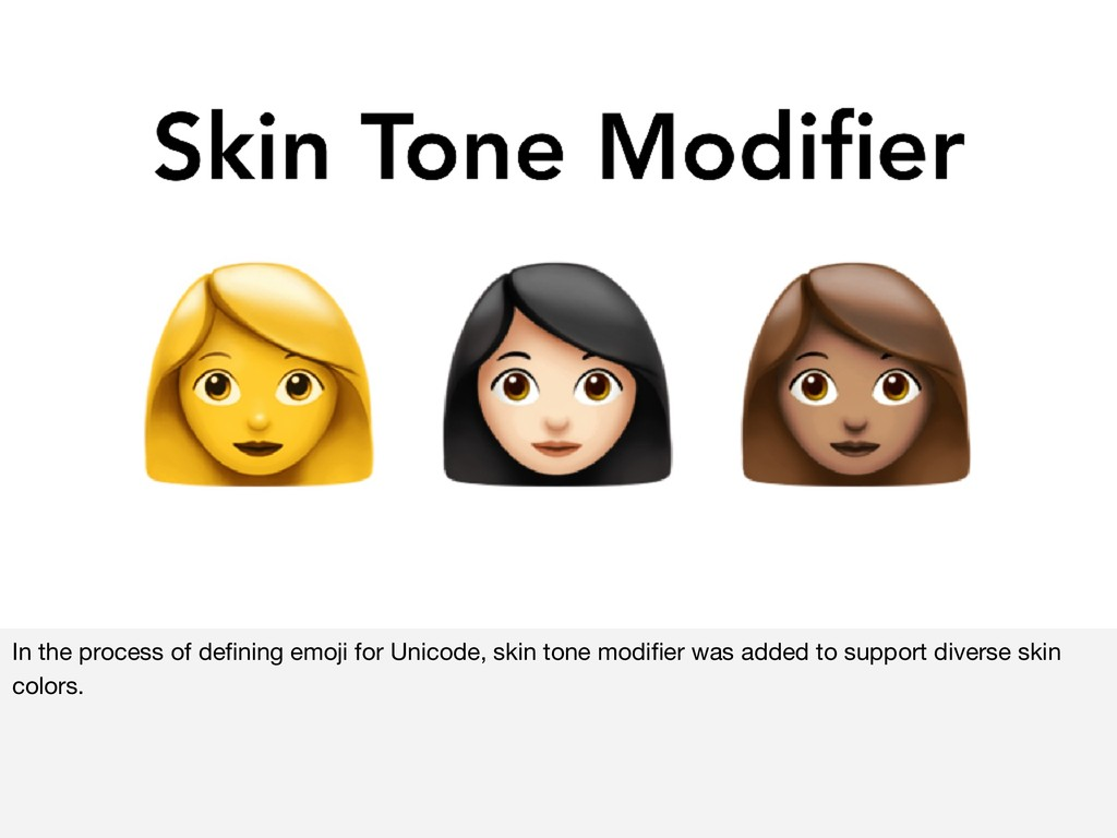 In the process of defining emoji for Unicode, sk...