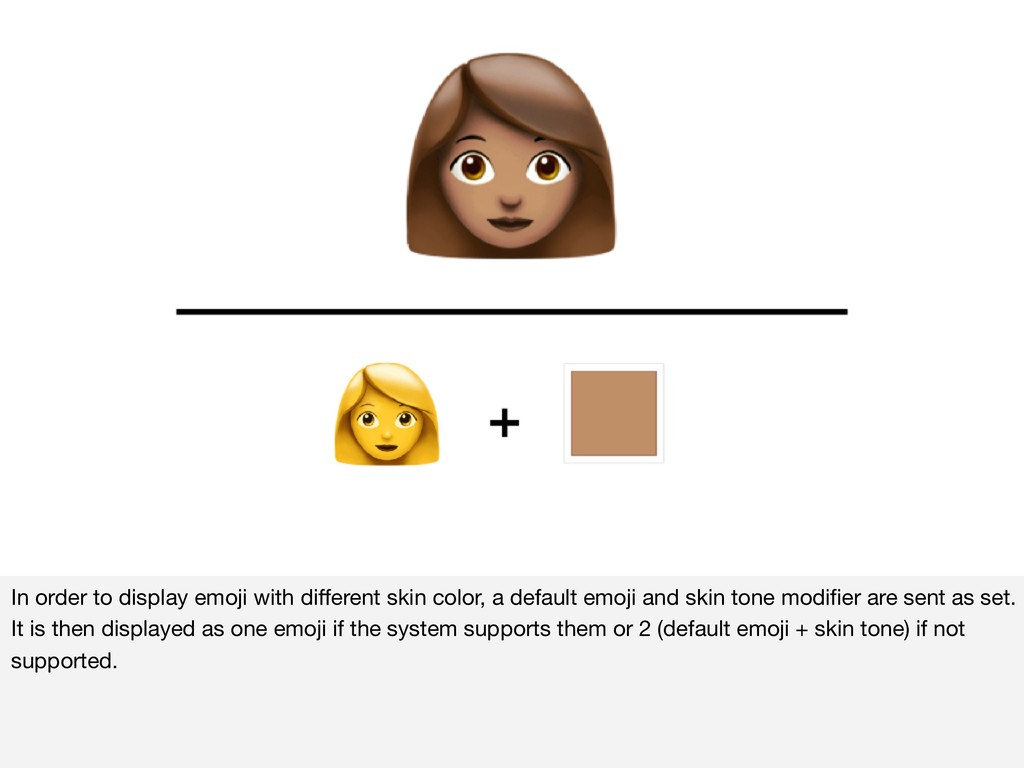 In order to display emoji with different skin co...