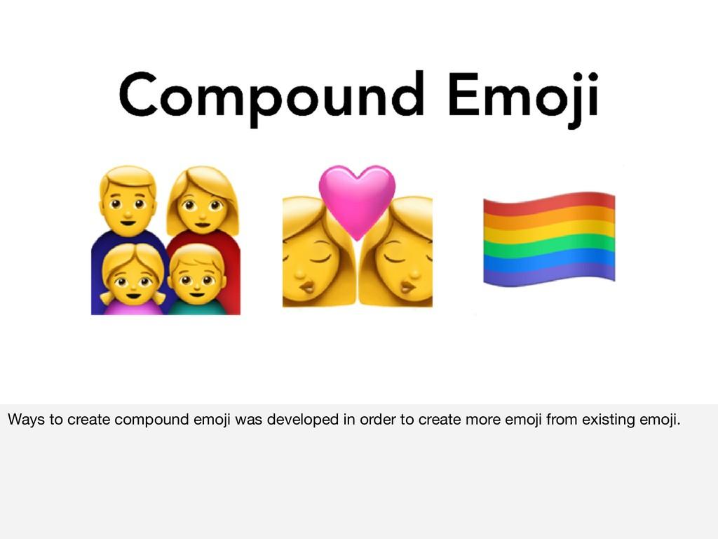 Ways to create compound emoji was developed in ...