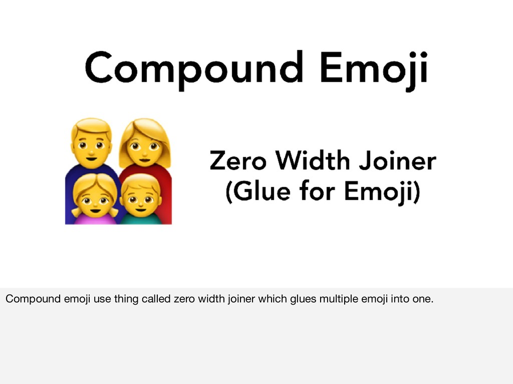 Compound emoji use thing called zero width join...