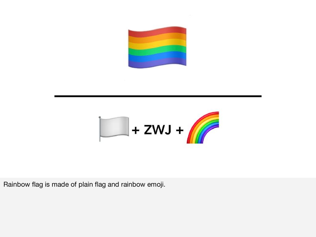 Rainbow flag is made of plain flag and rainbow em...