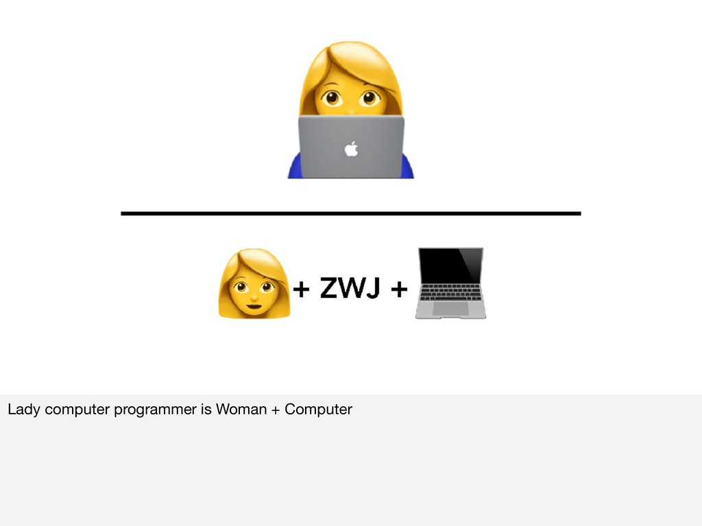 Lady computer programmer is Woman + Computer