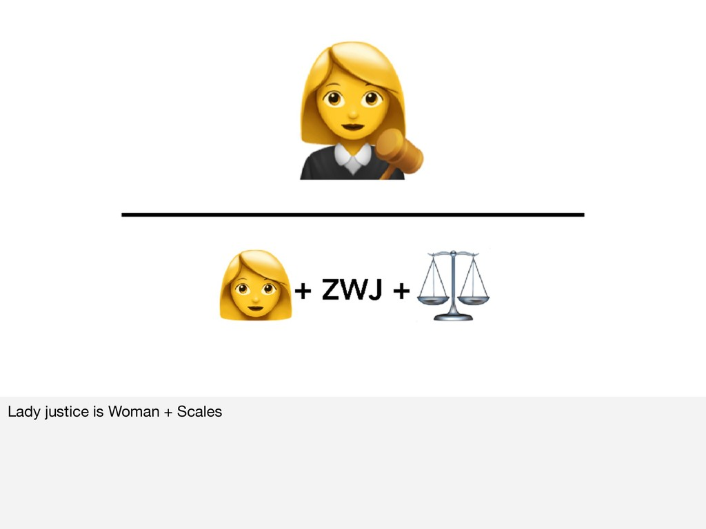 Lady justice is Woman + Scales