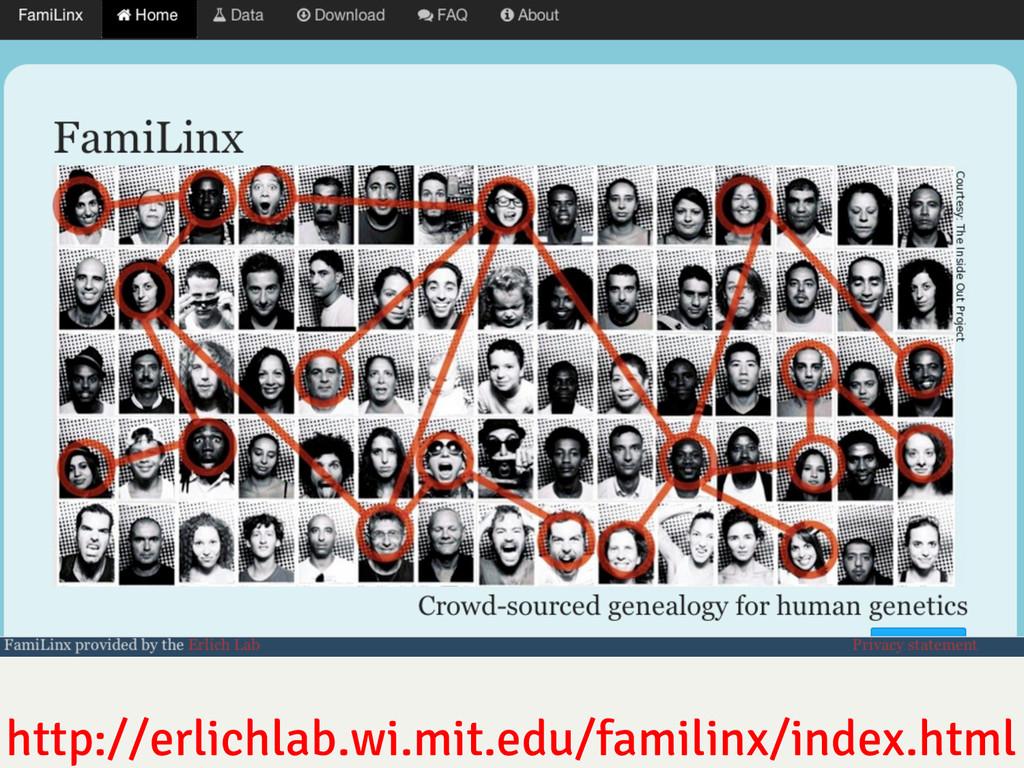 http://erlichlab.wi.mit.edu/familinx/index.html