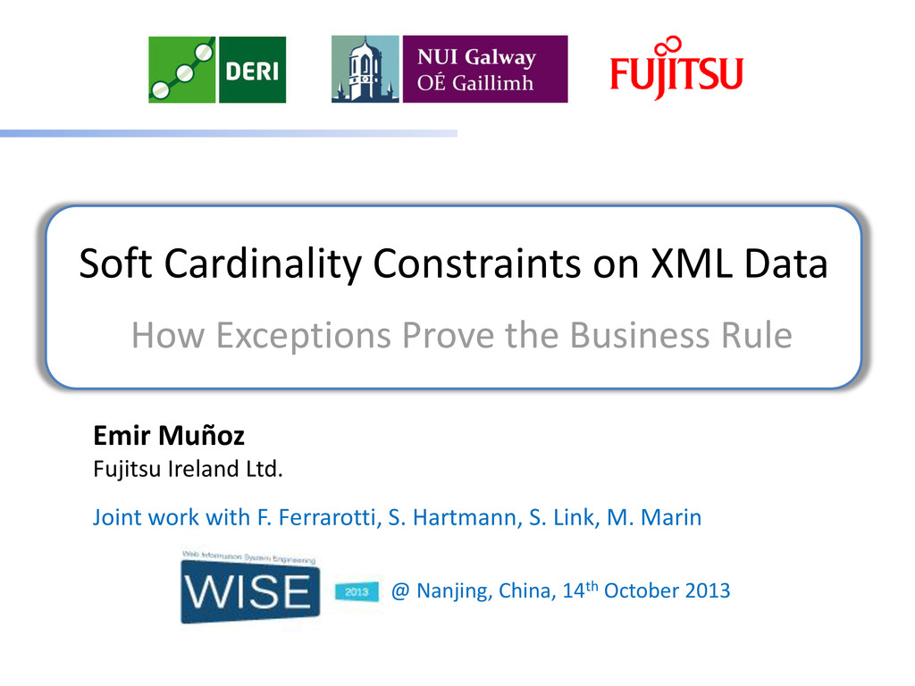 Soft Cardinality Constraints on XML Data How Ex...