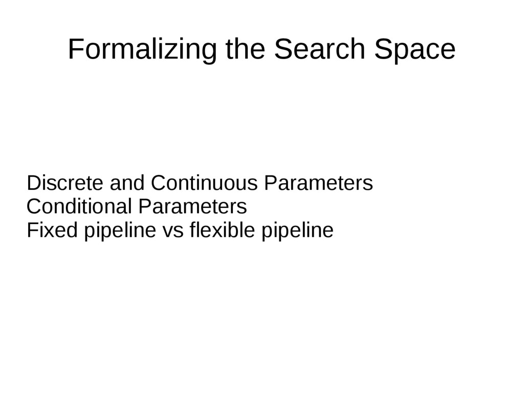 Formalizing the Search Space Discrete and Conti...