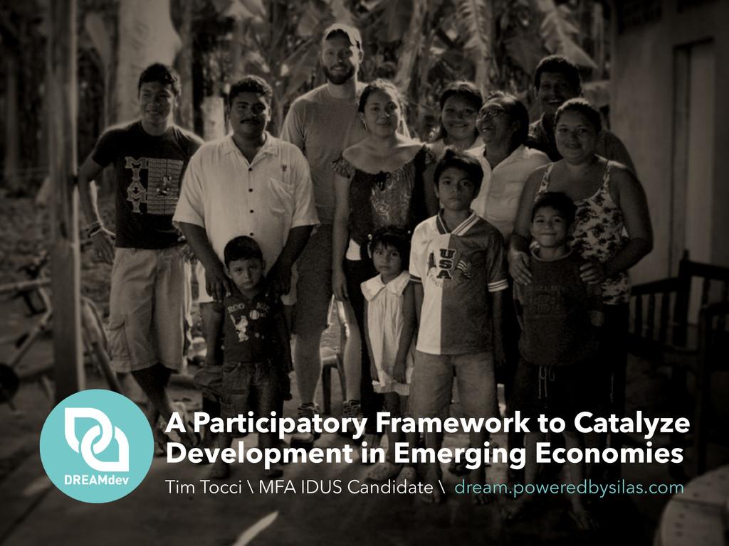 A Participatory Framework to Catalyze Developme...