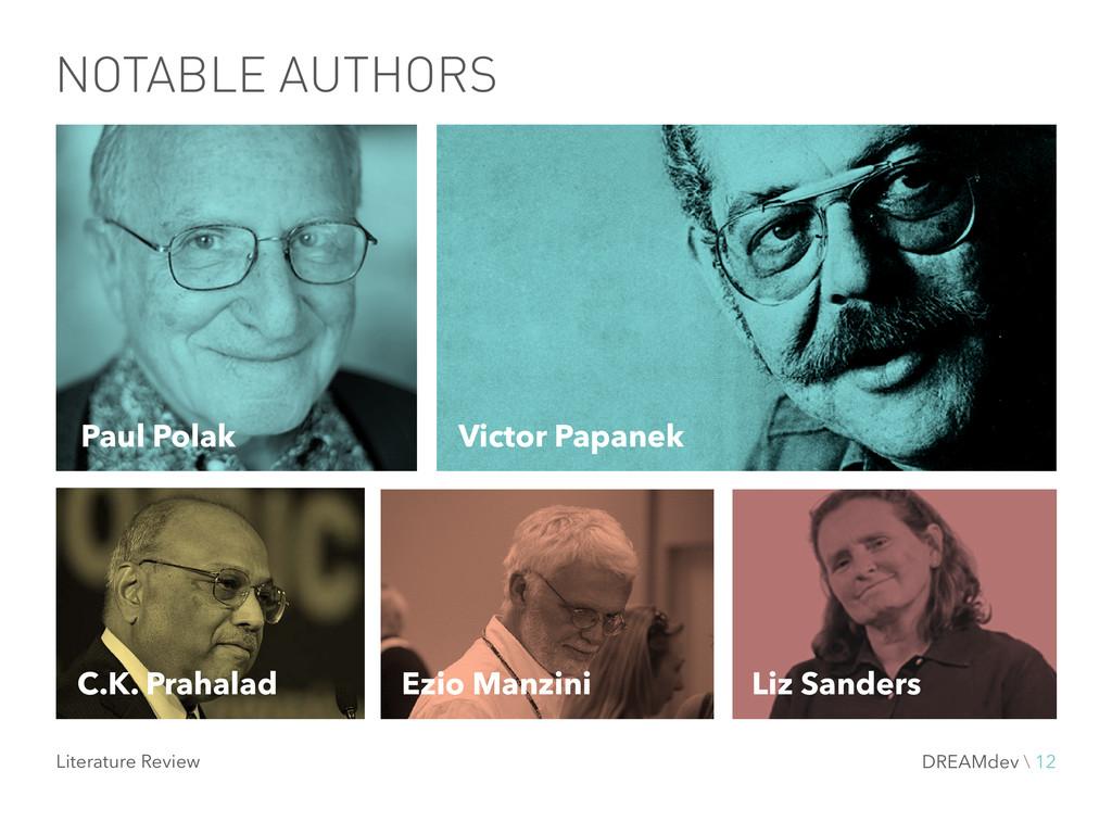 NOTABLE AUTHORS Victor Papanek Paul Polak C.K. ...