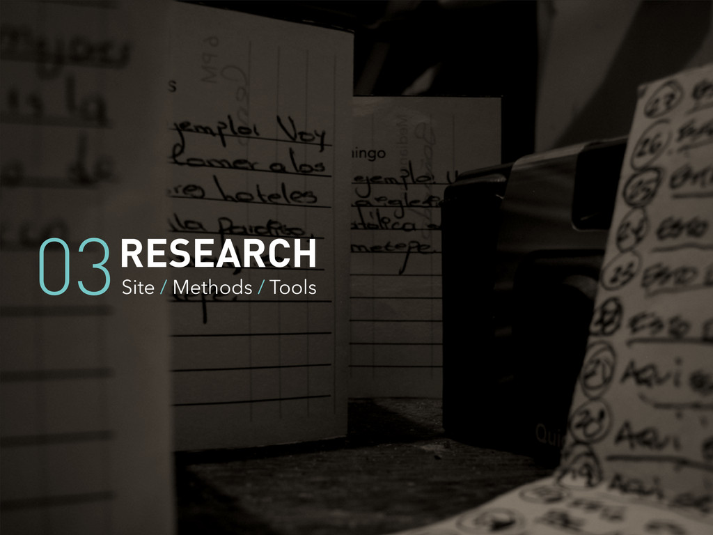 RESEARCH Site / Methods / Tools 03