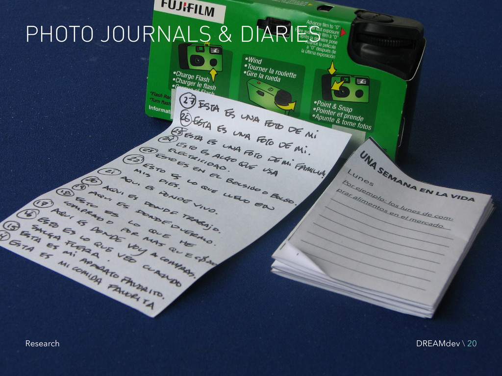 PHOTO JOURNALS & DIARIES DREAMdev \ 20 Research