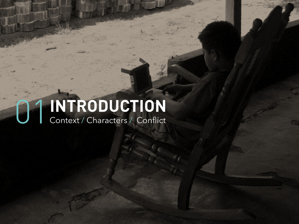 INTRODUCTION Context / Characters / Conflict 01