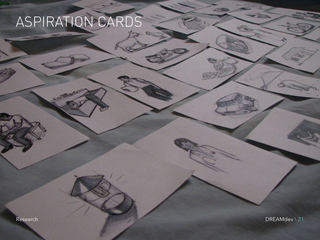 ASPIRATION CARDS DREAMdev \ 21 Research