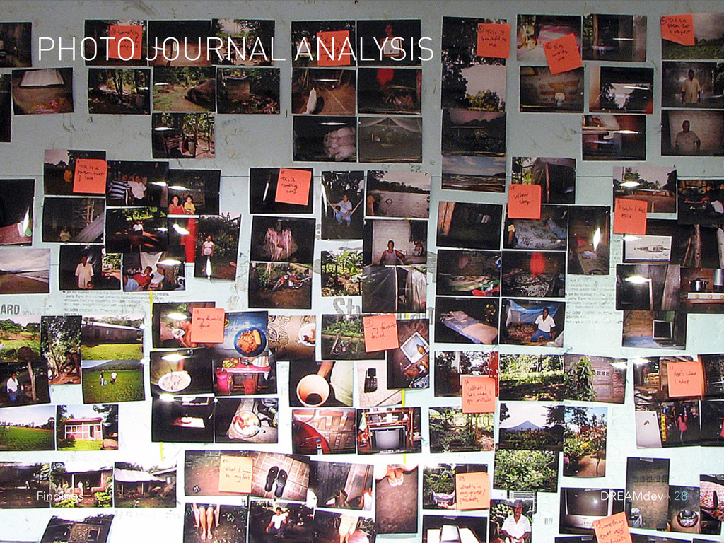 PHOTO JOURNAL ANALYSIS DREAMdev \ 28 Findings