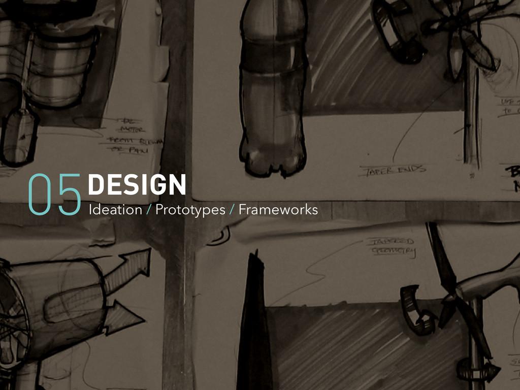 DESIGN Ideation / Prototypes / Frameworks 05
