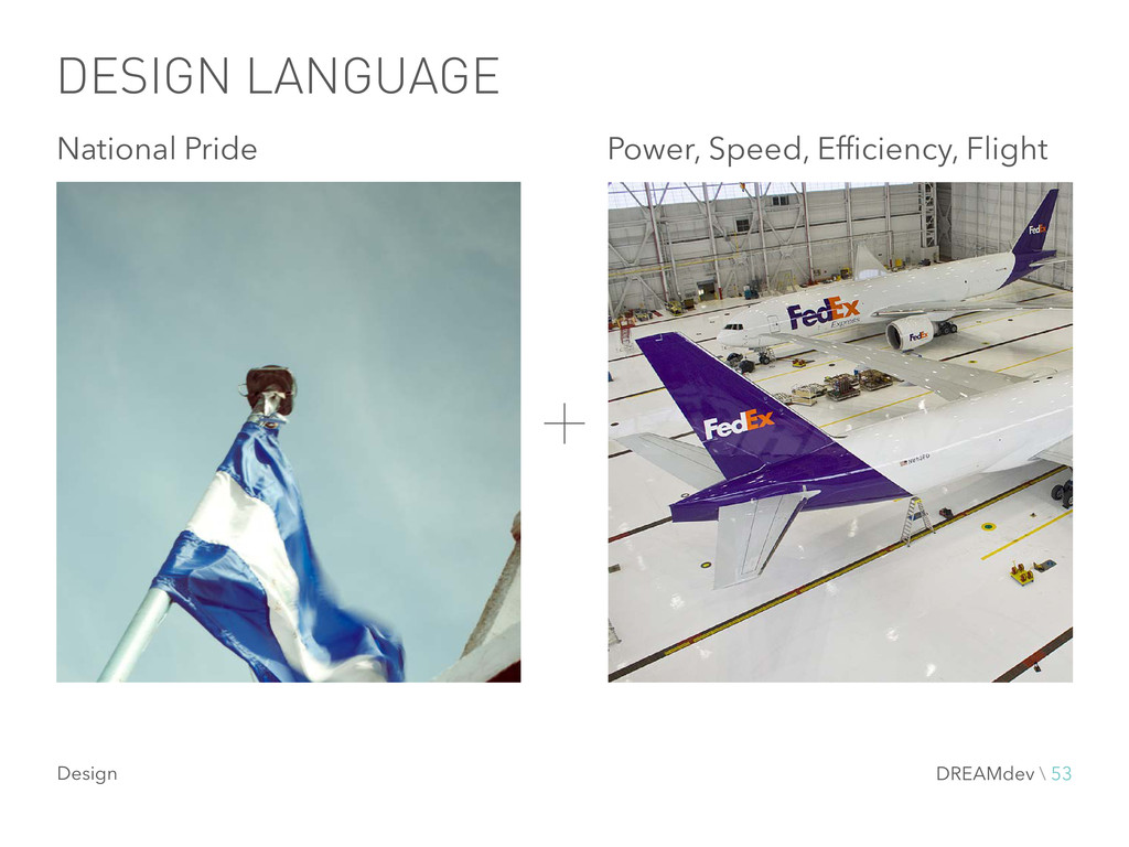 DESIGN LANGUAGE National Pride Power, Speed, Ef...