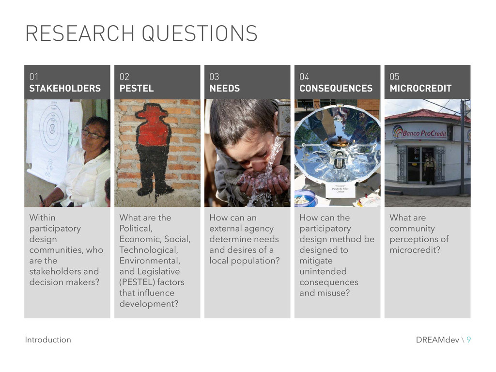 RESEARCH QUESTIONS Within participatory design ...