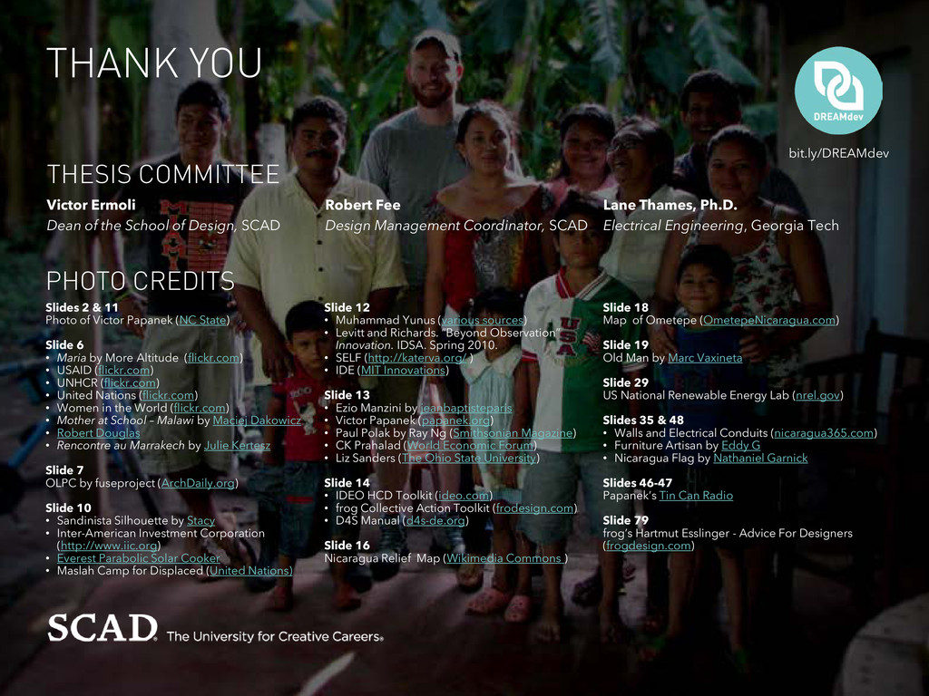 THANK YOU PHOTO CREDITS THESIS COMMITTEE bit.ly...