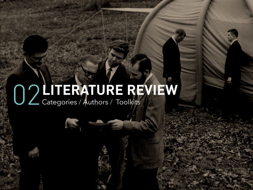 LITERATURE REVIEW Categories / Authors / Toolki...