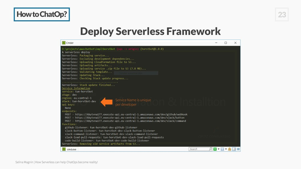 How to ChatOp? 23 Deploy Serverless Framework S...