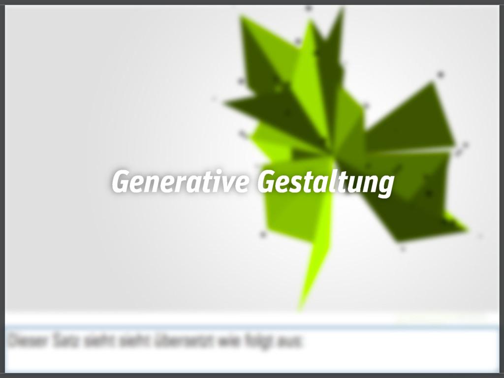 Generative Gestaltung