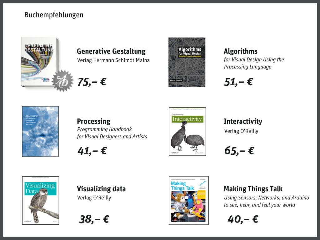 Making Things Talk 40,– € Algorithms for Visual...