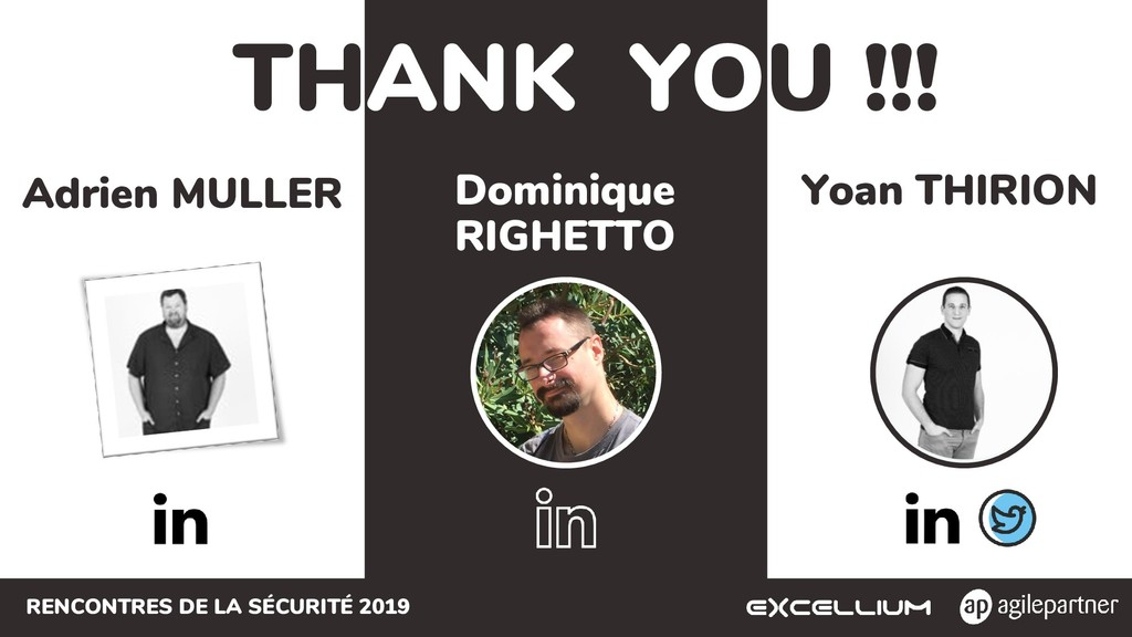 RENCONTRES DE LA SÉCURITÉ 2019 THANK YOU !!! Yo...