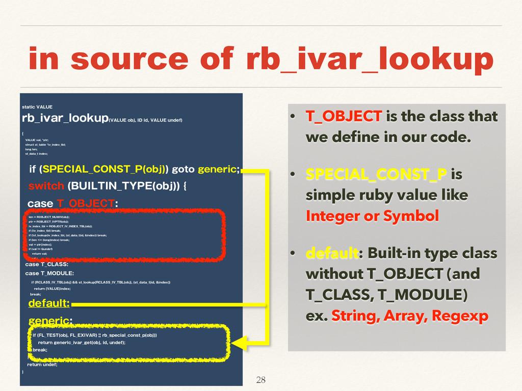 """in source of rb_ivar_lookup TUBUJD7""""-6& SC@JW..."""