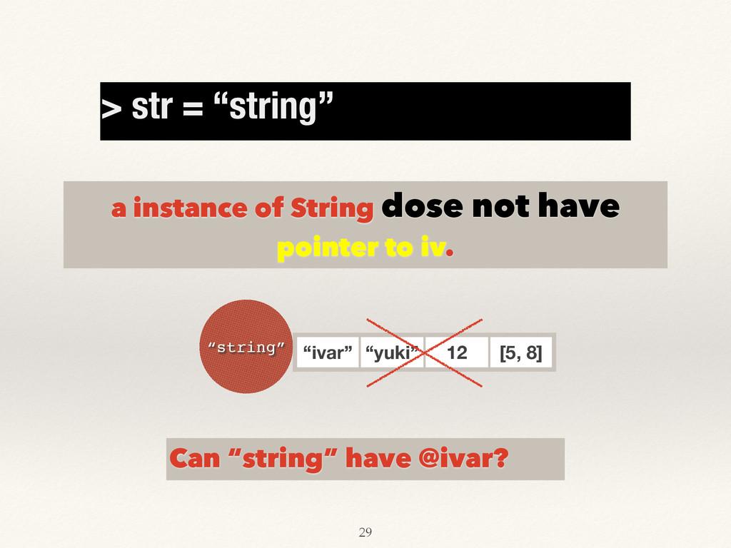 "Can ""string"" have @ivar? a instance of String d..."