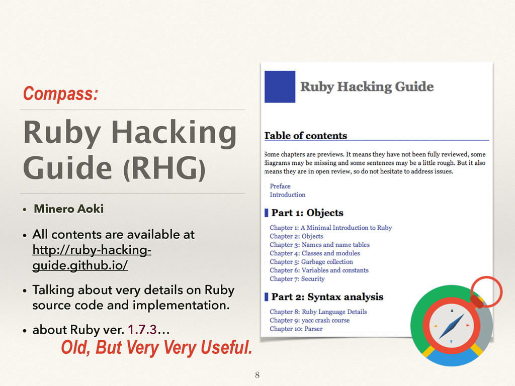 Ruby Hacking Guide (RHG) • Minero Aoki • All co...