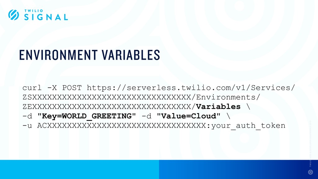 ENVIRONMENT VARIABLES curl -X POST https://serv...