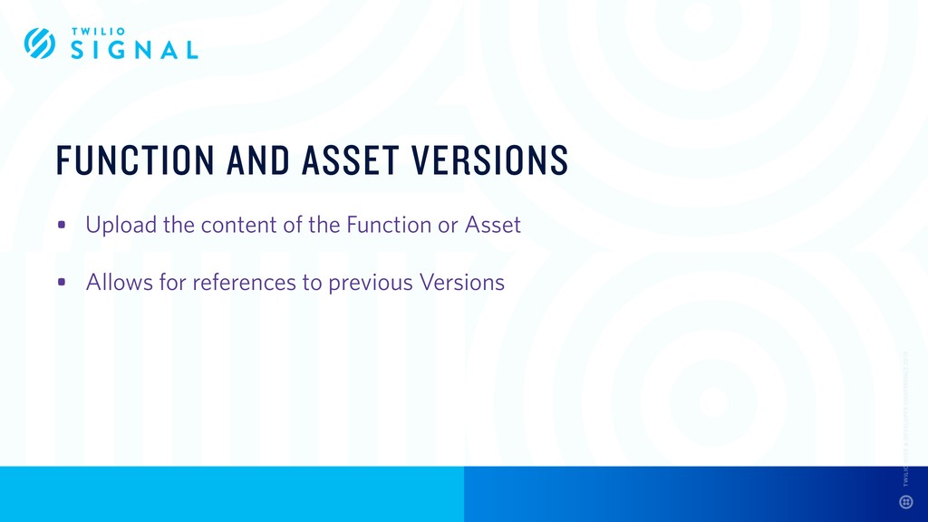 FUNCTION AND ASSET VERSIONS • Upload the conten...