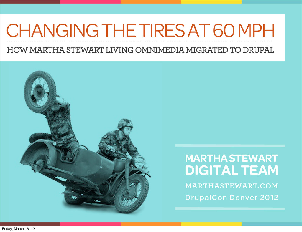 CHANGING THE TIRES AT 60 MPH HOW MARTHA STEWART...