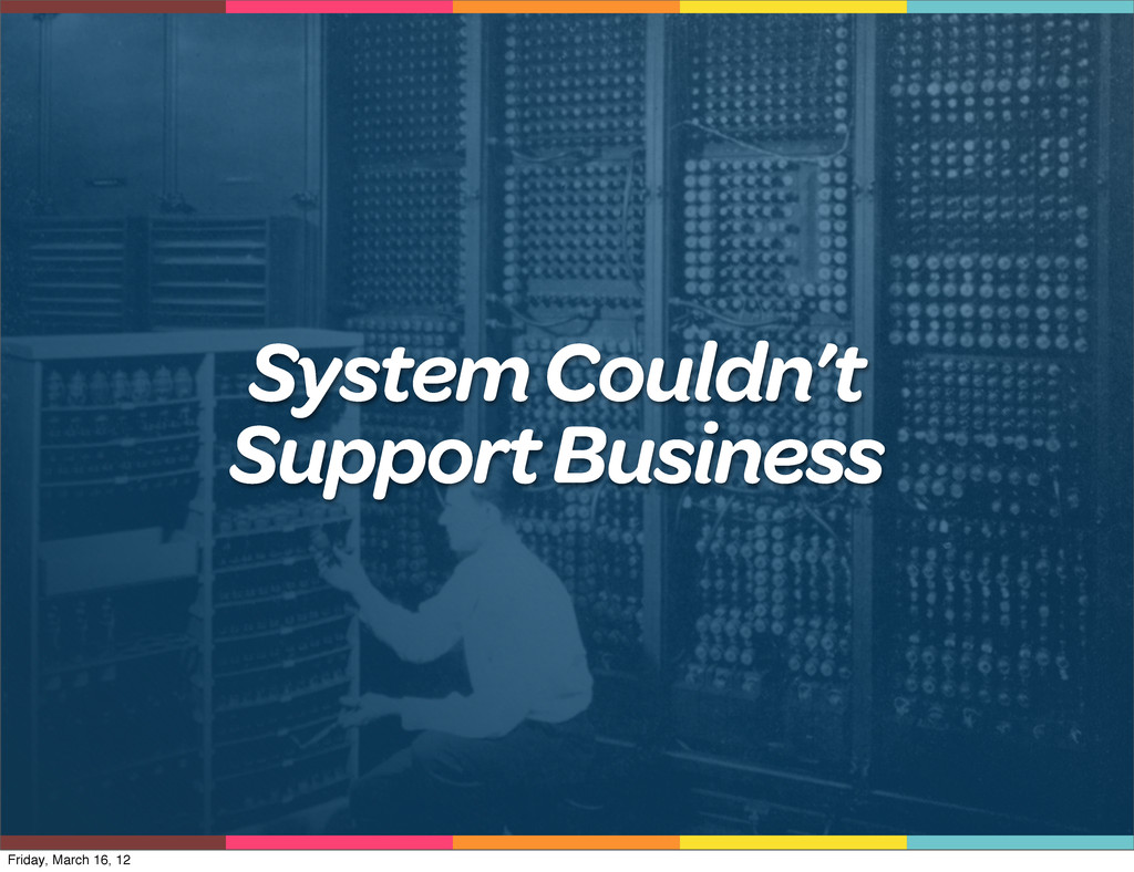 System Couldn't Support Business Friday, March ...