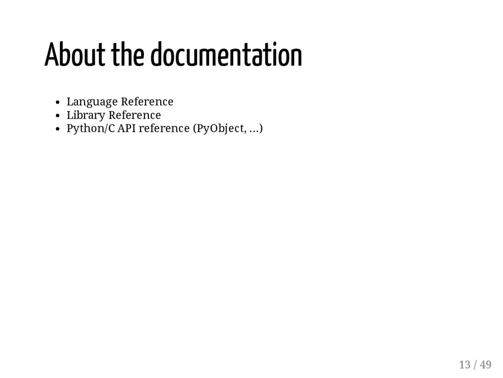 About the documentation Language Reference Libr...