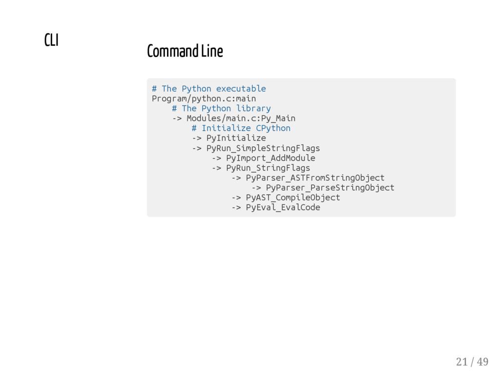 CLI Command Line # T h e P y t h o n e x e c u ...