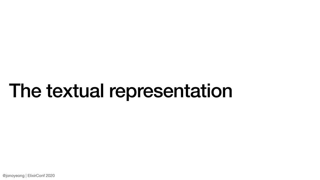 The textual representation @jonoyeong | ElixirC...