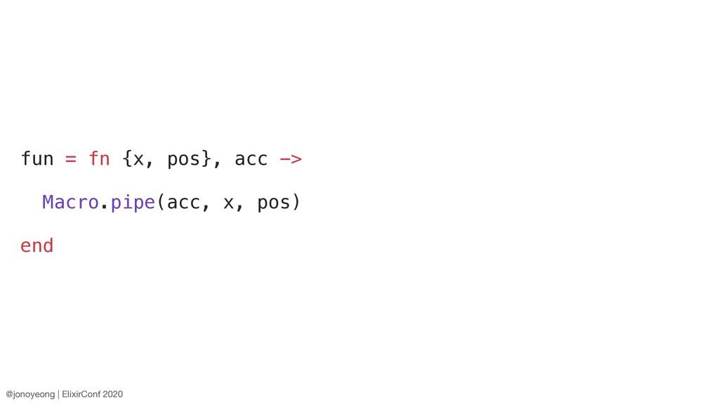 fun = fn {x, pos}, acc -> Macro.pipe(acc, x, po...
