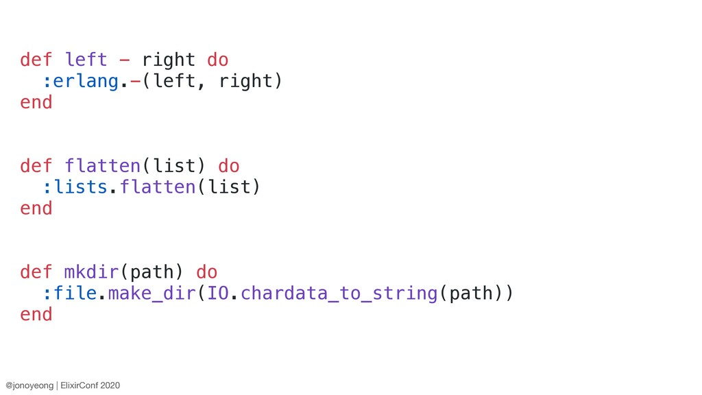 def left - right do :erlang.-(left, right) end ...