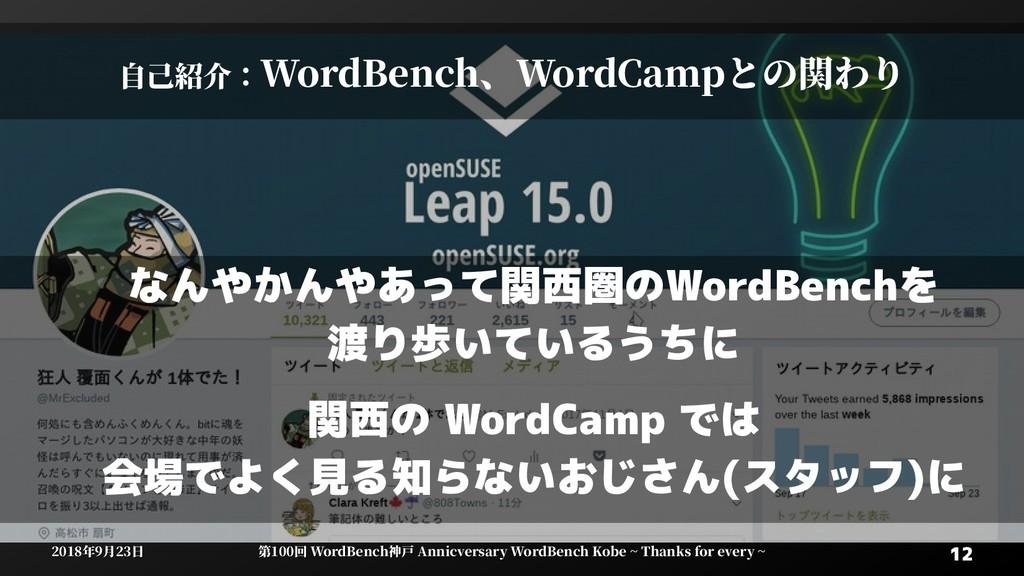 12 12 2018年9月23日 2018年9月23日 第100回 WordBenWordBe...