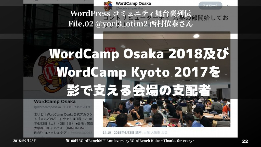 22 22 2018年9月23日 2018年9月23日 第100回 WordBenWordBe...