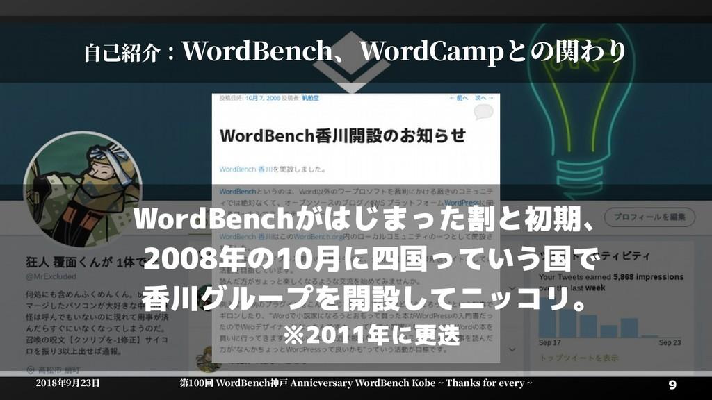9 9 2018年9月23日 2018年9月23日 第100回 WordBenWordBenc...